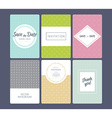 Wedding invitation cards set vector image