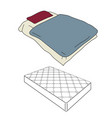 mattress and bedding vector image