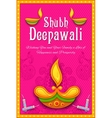 Happy Diwali background vector image vector image