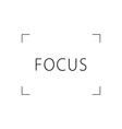 focus black and white vector image