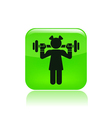 gym icon vector image vector image