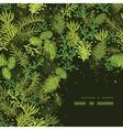 Evergreen christmas tree corner frame pattern vector image