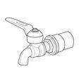 faucet out line vector image