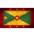 Flags Grenada with dirty paper texture vector image