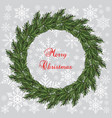 new year and christmas wreath vector image