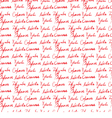 Seamless wallpaper with handwritten text vector image