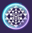 sri yantra glowing symbol vector image