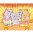 Lottery tickets with attractive scene vector image vector image
