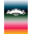 classic banner on the multi color stripe vector image