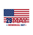 memorial day 2017 29 may vector image