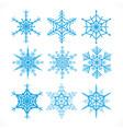 snowflakes design set on white background vector image