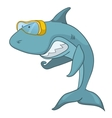 cartoon character shark vector image