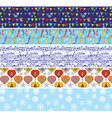 Christmas banners set with pattern of snow vector image