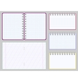 Collection of blank copybooks and notepads vector image