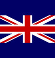 official flag of united kingdom of great britain vector image