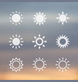 sun signs icons vector image