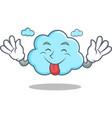 tongue out cute cloud character cartoon vector image
