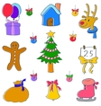 Doodle of hand draw christmas element vector image