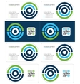 optimal business card 1 vector image