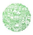 coding line icon circle design vector image