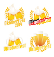 Oktoberfest labels badges and menu elements vector image vector image