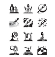 Aerospace mission set of icons vector image vector image