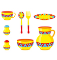 tableware ornaments vector image