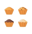 Muffin icon set on white background vector image
