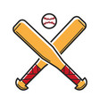 baseball sport game usa america travel landmarks vector image
