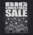 big christmas sale chalkboard card vector image