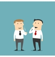 Businessman drinking and chatting with friend vector image
