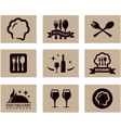 concept restaurant menu set vector image