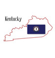 kentucky state map and flag vector image