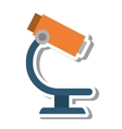 microscope science isolated icon vector image