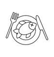 restaurant menu fresh fish seafood healthy vector image
