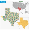Texas map vector image