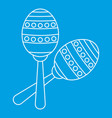 two maracas icon simple style vector image