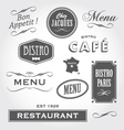 vintage signs french restaurant vector image
