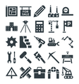 Construction Cool Icons 4 vector image