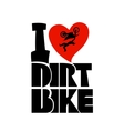 Dirt bike print vector image