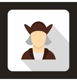 Christopher Columbus icon flat style vector image