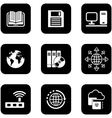 digital black icons set vector image