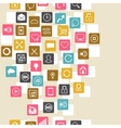 Social network background of SEO internet icons vector image