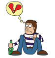 Broken heart cartoon vector image vector image