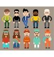 Set of flat men different professions vector image