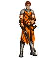 warrior9 vector image