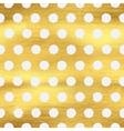 Geometric golden polka dot seamless pattern vector image