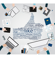 Modern creative office workspace for social media vector image