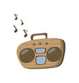 boombox or radio cassette tape player cartoon vector image
