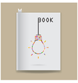 Creative book cover vector image